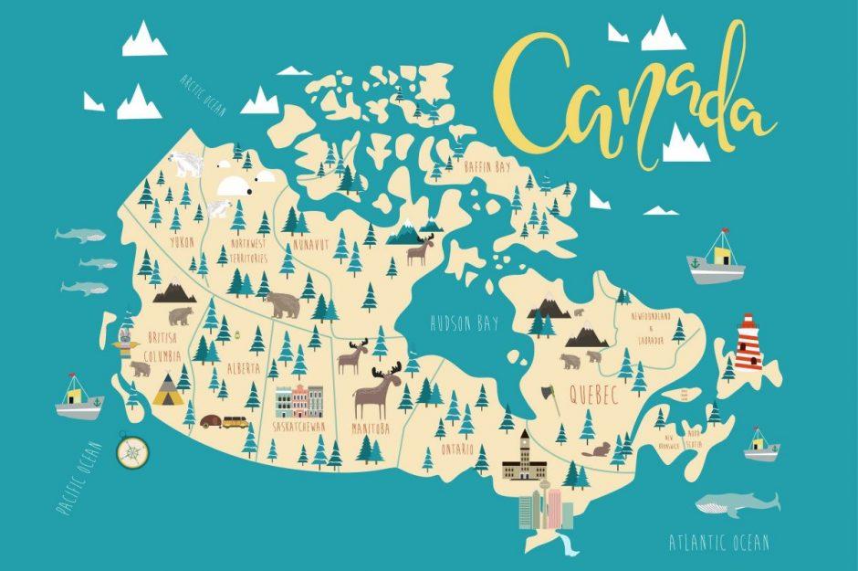 تقسیم بندی جغرافیایی کانادا
